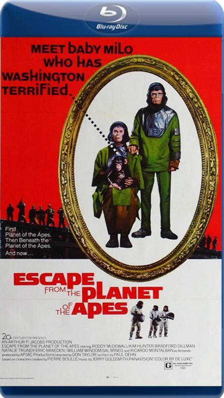 Втеча з планети Мавп / Бегство с планеты обезьян / Escape from the Planet of the Apes (1971) BDRip
