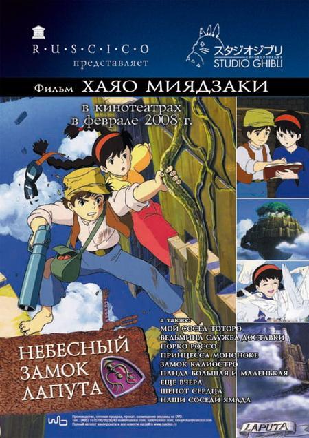 Небесный замок Лапута / Tenkû no shiro Rapyuta (1986) DVDRip