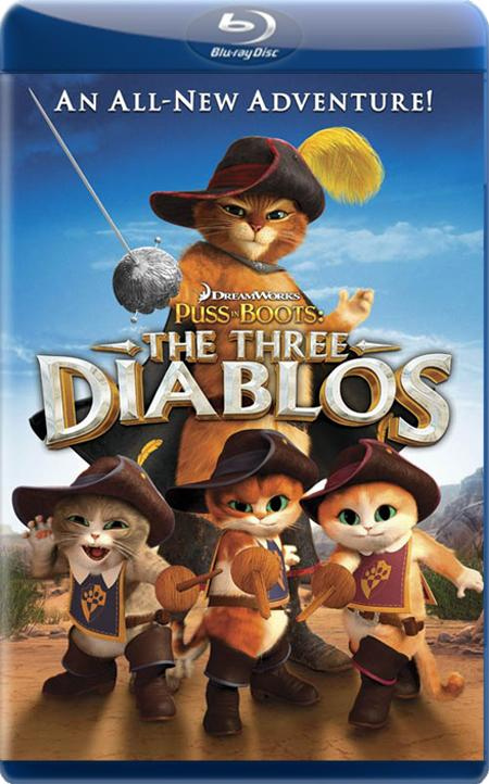 Кіт у чоботях: Троє Чортенят / Кот в сапогах: Три Чертёнка / Puss in Boots: The Three Diablos (2012) BDRip