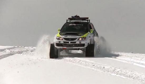 Самый быстрый снегоход в мире - Subaru TRAX STI (название гибрида)