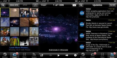 NASA создала приложение для iPhone