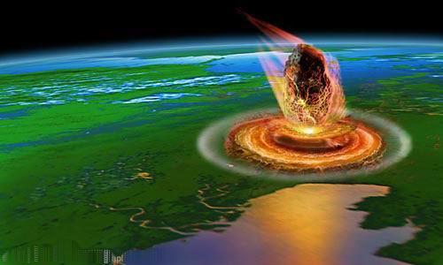 Падение астероида на Землю (HD видеозарисовка)