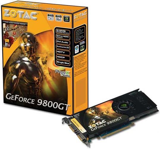 GeForce 9800 GT AMP Limited Edition – эксклюзив от Zotac