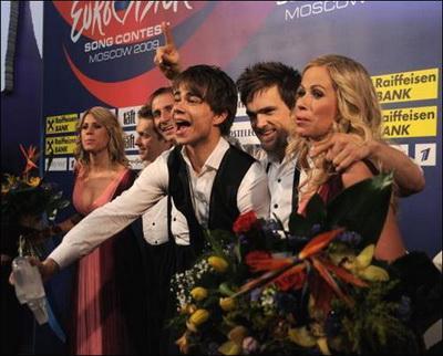 "На ""Евровидении-2009"" победил Александр Рыбак (Норвегия)"