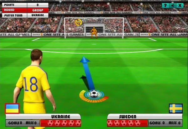 Euro Free Kick 2012: флеш игра