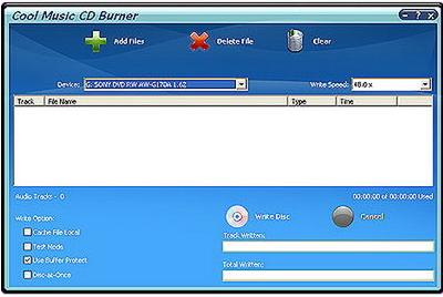 Cool Music CD Burner v7.4.3.155