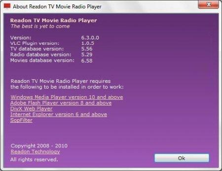 Portable Readon TV Movie Radio Player v6.3.0.0